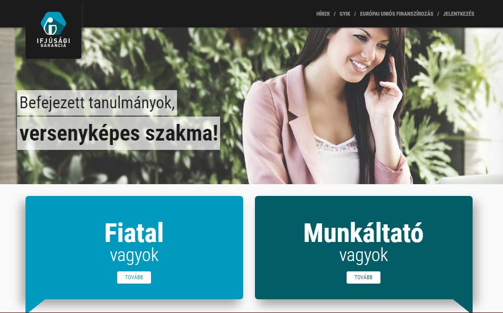 Képernyőfotó: http://ifjusagigarancia.gov.hu/