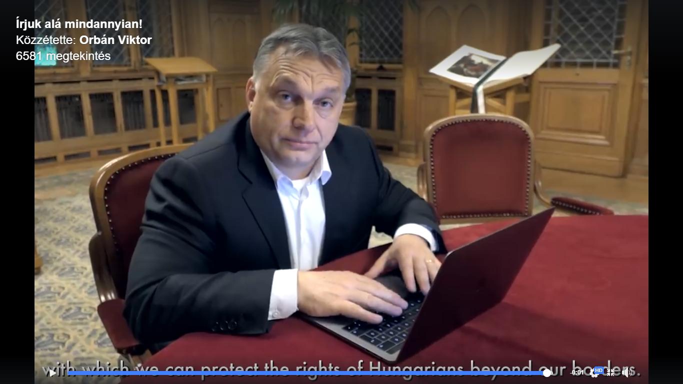 Képernyőfotó: Orbán Viktor Facebook-oldala