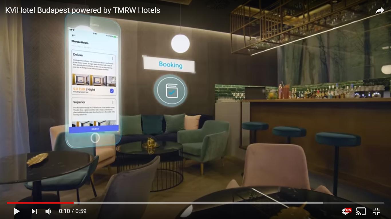 Képernyőfotó: KVi Hotel Budapest YouTube-csatornája