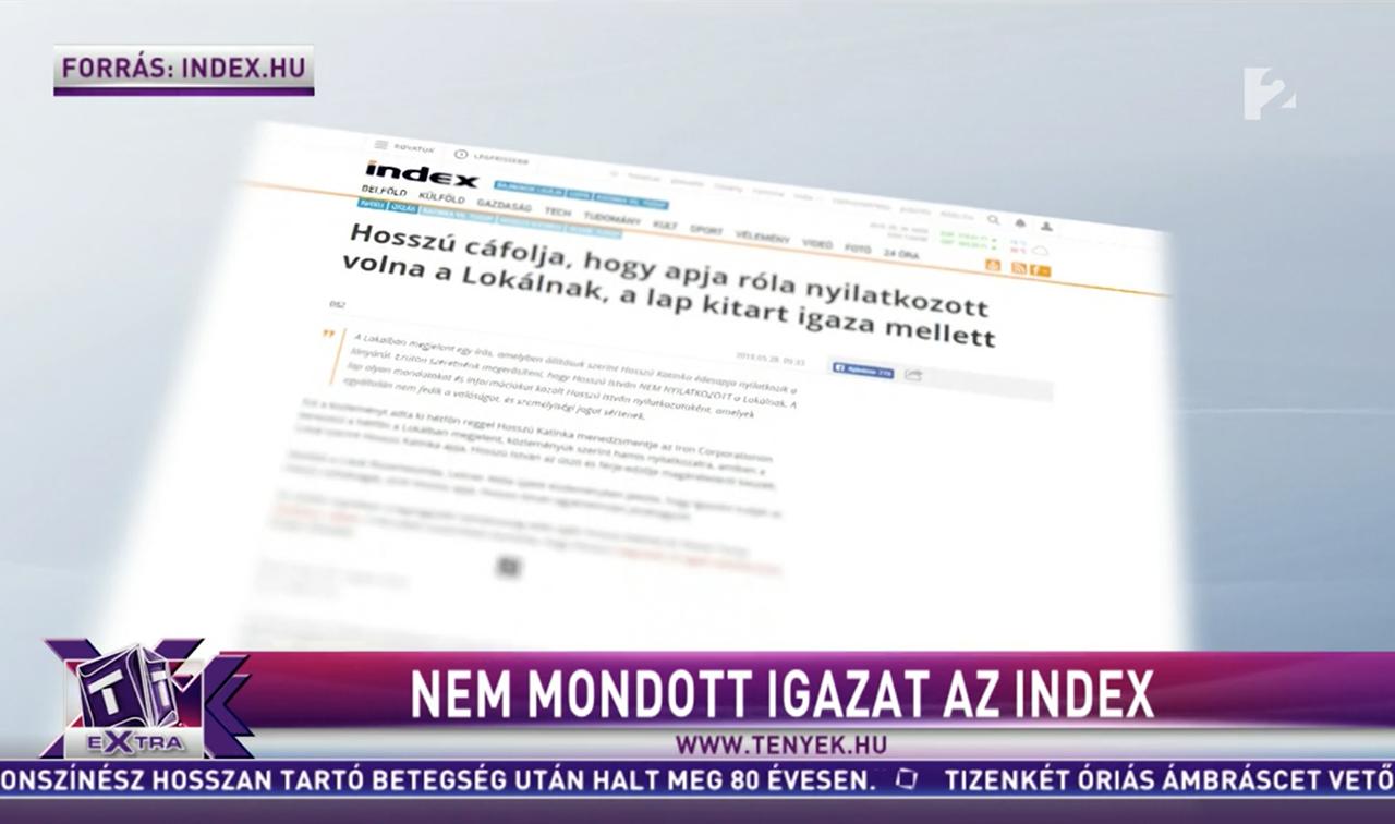 Képernyőfotó: TV2 Tények Extra