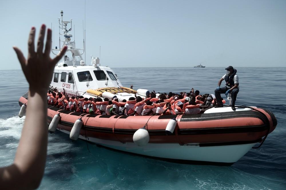 Fotó: MTI/EPA/SOS Méditerranée/Kenny Karpov